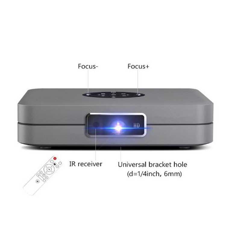 High Brightness 300 Ansi Lumens Mini HD Android DLP Miracast Projector