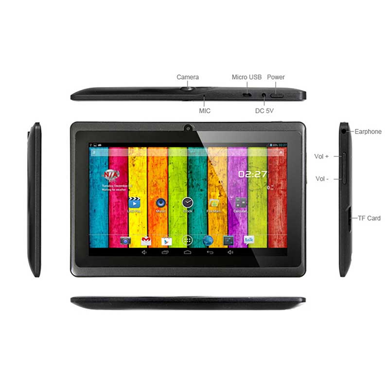 A33 Q88 7Inch Android Wifi kids Education Tablet pc