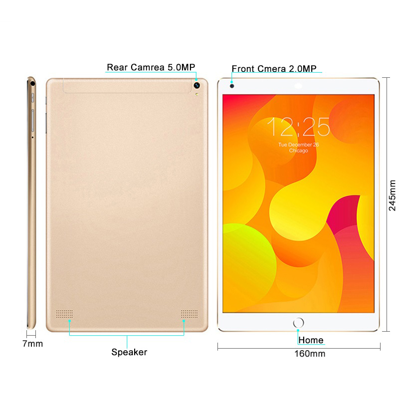 10.1inch Android 3G LTE Tablet PC Quad Core with Home button
